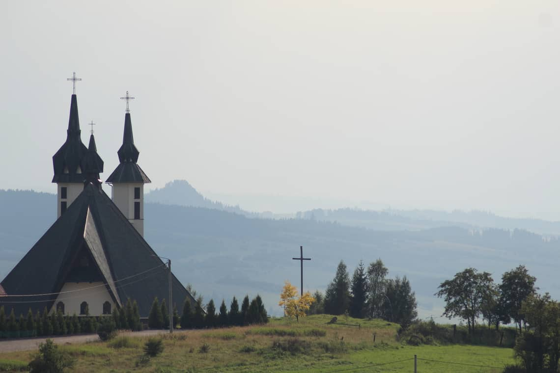 Het pittoresk dorpje Kluszkowce
