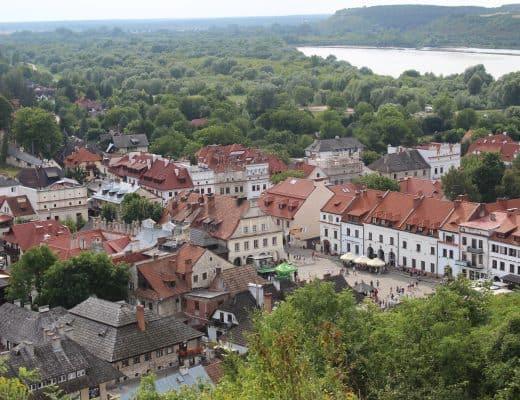 Het uitzicht op Kazimierz Dolny
