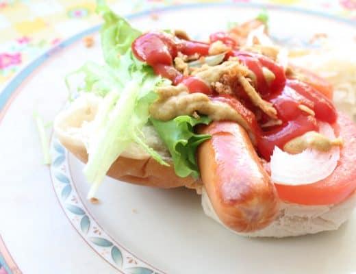 Poolse street food - hotdog